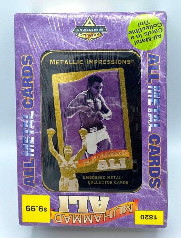 1995 MUHAMMAD ALI Embossed Metal Collector Tin 5-Card Set-0
