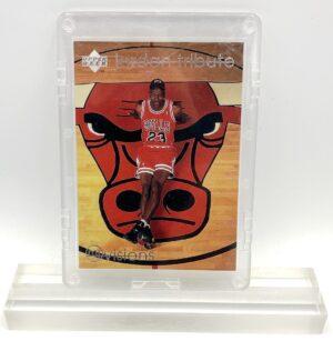1997 Michael Jordan (SILVER SCRIPT JORDAN TRIBUTE-VISIONS & MOMENTS Chicago Bulls Upper Deck-Card #MJ9)=1pc (1)
