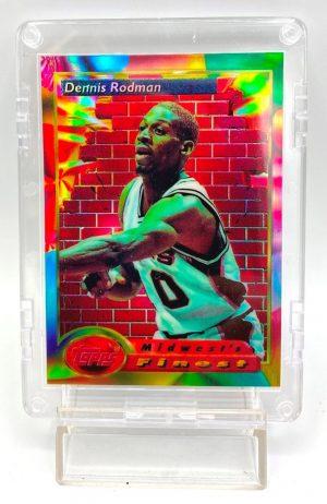 1994 Topps Finest (Dennis Rodman Midwest's Finest-Refractor) 2pcs Card #113 (1)