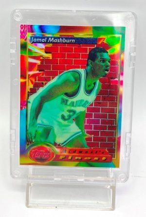 1994 Topps Finest (Jamal Mashburn Midwest's Finest-Refractor) 2pcs Card #110 (1)