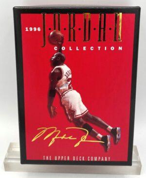 1996 Jordan Collection (Michael Jordan) Gold Script Signature Box Blow-Up Insert Cards- Upper Deck=2pcs (1)