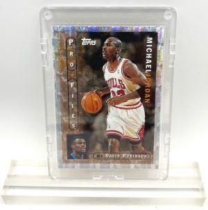 1996 Michael Jordan (CHROME PROFILES- The Jordan File-David Roberson's Insight-TOPPS CARD-#PF-3)=2pcs (1)