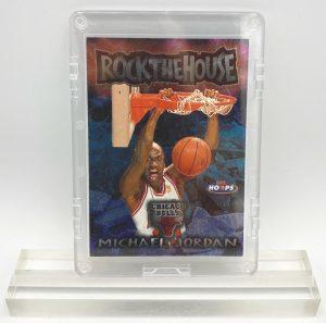 1997-98 Michael Jordan (CHROME- ROCK THE HOUSE NBA HOOPS-Skybox-Card #6 of 10 RTH)=1pc (1)