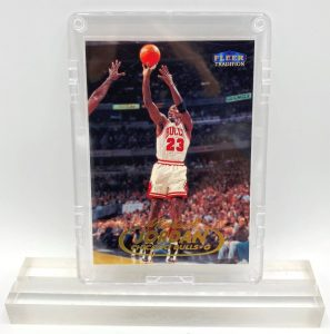 1998 Fleer! Michael Jordan Gold Script Print (Chicago Bulls-G Card #23) (1)