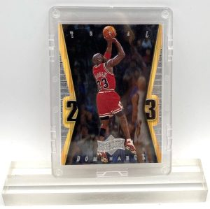 1999 Michael Jordan (CHROME & SILVER SCRIPT-ATHLETE OF THE CENTURY-TOTAL DOMINANCE Upper Deck-Card #TD11)=1pc (1)