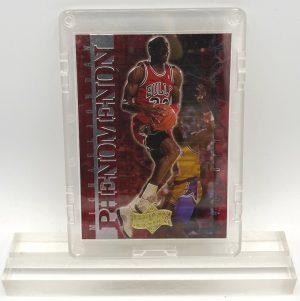1999 Michael Jordan (RED CHROME & Silver SCRIPT-ATHLETE OF THE CENTURY-PHENOMENON Upper Deck-Card #P9)=1pc (1)