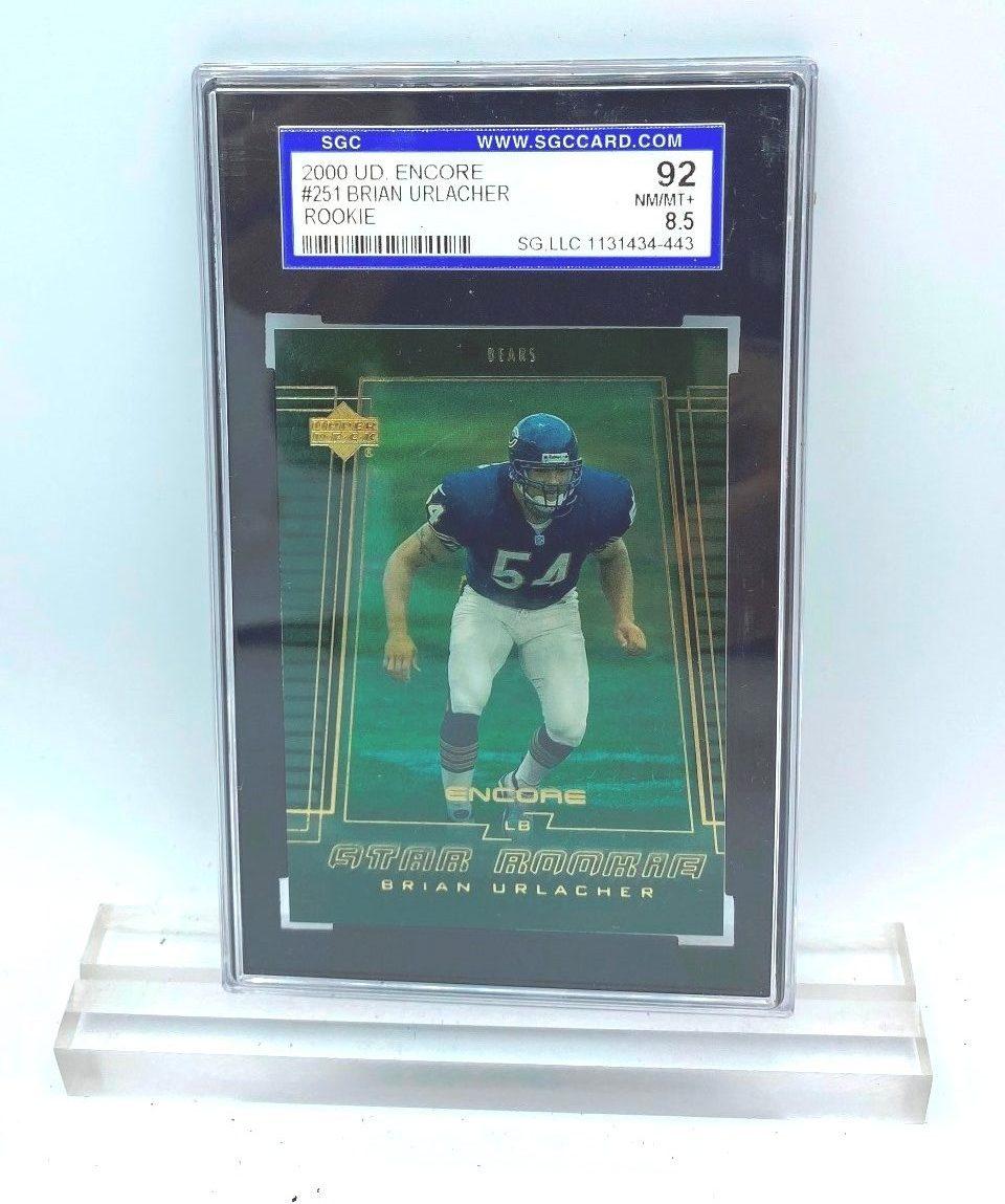 2000 UD Encore Brian Urlacher (ROOKIE CARD) #251 (31434443) 92 Mint 8.5 (1)