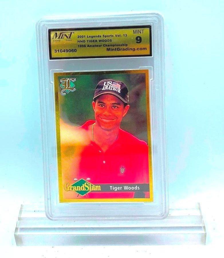 2001 Legends Sport Vol 13 NNo Tiger Woods (1996 Ameteur Championship 9060) 9 (1)
