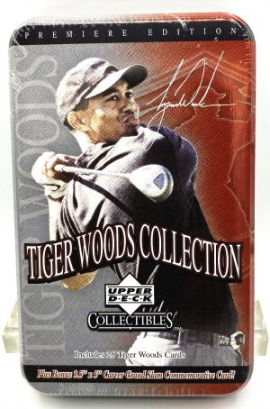 2001 Tiger Woods Tin Collection (Premiere Edition) 25 Cards Upper Deck (1)