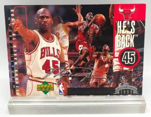 1995 Upper Deck He's Back-Silver-(Michael Jordan) Collector Edition 1995 (1pc) 3.5x5 Card # 4 of 4 (1)