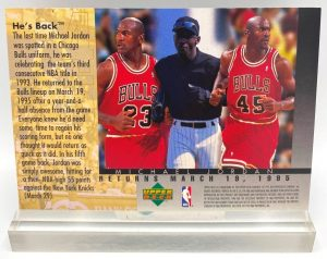 1995 Upper Deck He's Back-Silver-(Michael Jordan) Collector Edition 1995 (1pc) 3.5x5 Card # 4 of 4 (4)