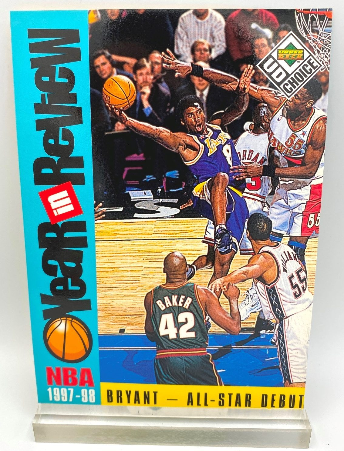 1997-98 Upper Deck All-Star Debut (Kobe Bryant) Year In Review 5x7 (1pc) Card # R1 (1)