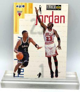 1997 Collector's Choice Jordan & Hardaway (Michael Jordan) 3.5x5 (1pc) Card # 4 of 4 (1)