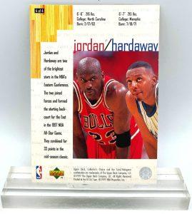 1997 Collector's Choice Jordan & Hardaway (Michael Jordan) 3.5x5 (1pc) Card # 4 of 4 (4)