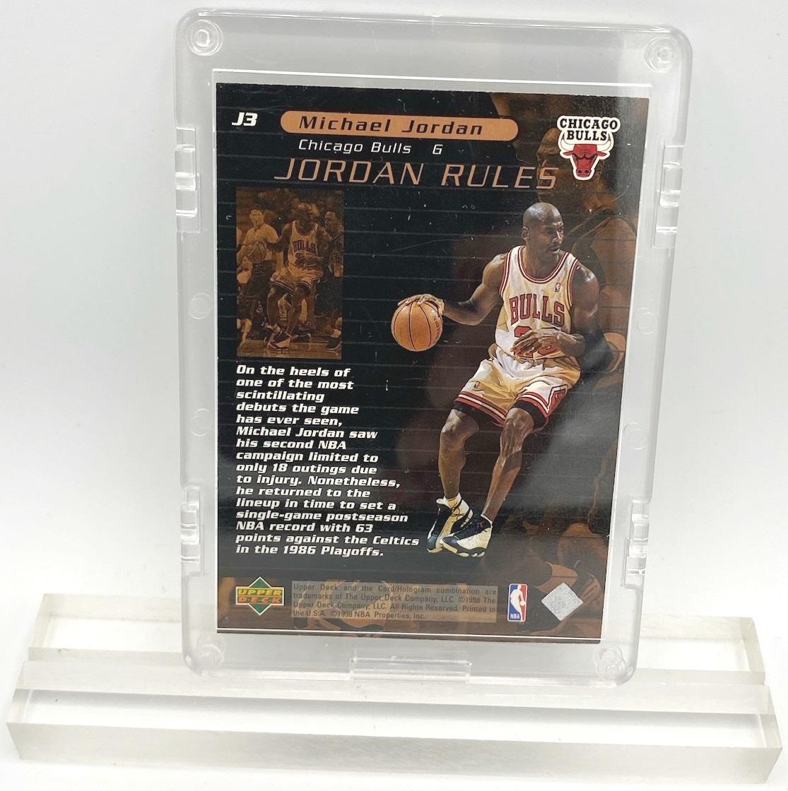 1998 Michael Jordan (JORDAN RULES-Upper Deck BRONZE CARD-#J3)=2pcs (2)