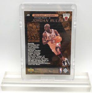 1998 Michael Jordan (JORDAN RULES-Upper Deck BRONZE CARD-#J5)=2pcs (2)
