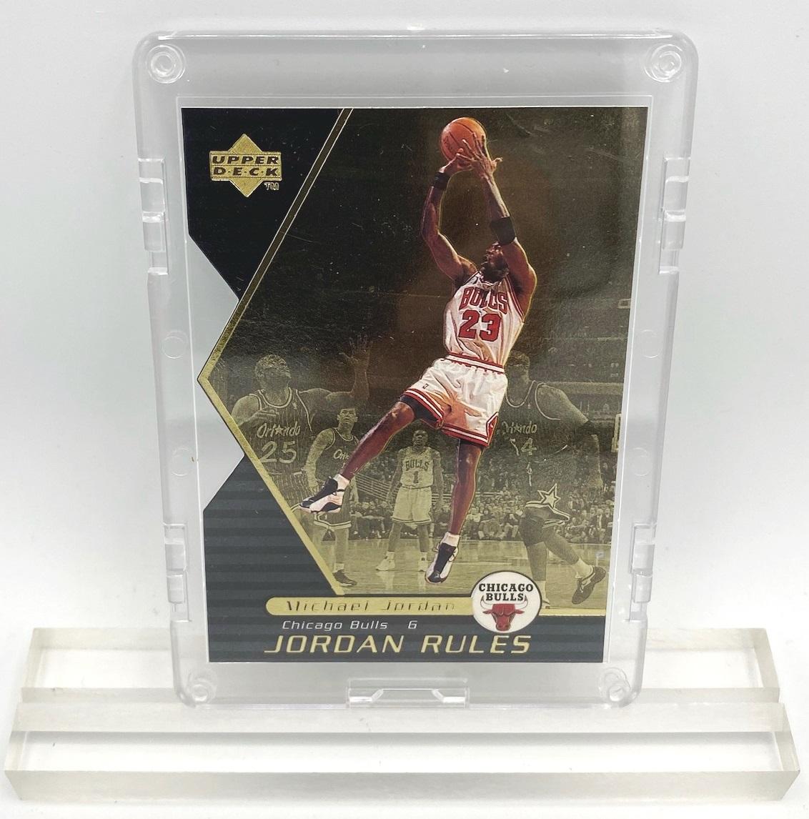 1998 Michael Jordan (JORDAN RULES-Upper Deck GOLD CARD-#J14)=1pc (2)