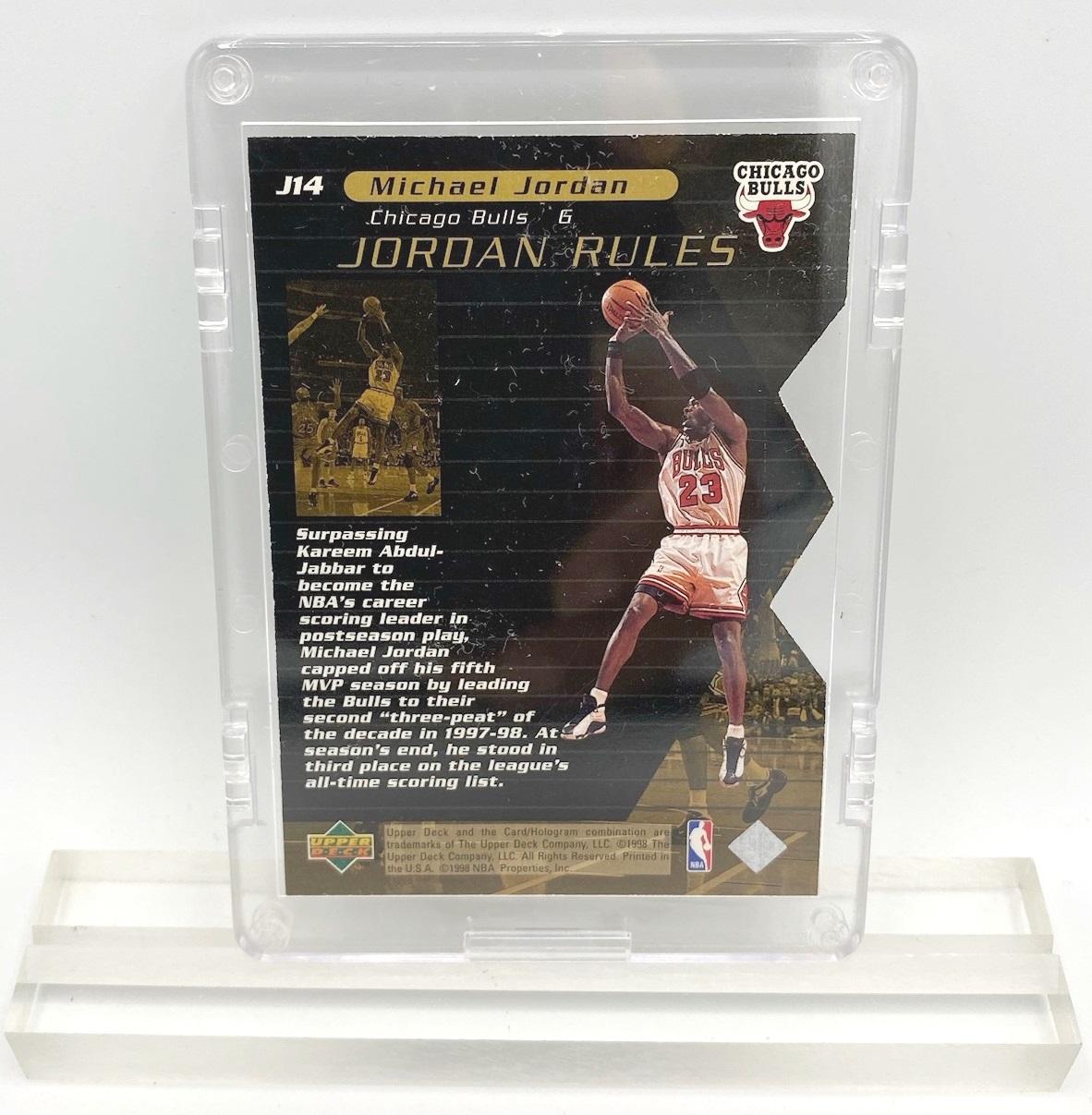 1998 Michael Jordan (JORDAN RULES-Upper Deck GOLD CARD-#J14)=1pc (3)