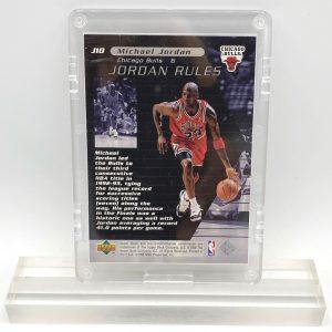1998 Michael Jordan (JORDAN RULES-Upper Deck SILVER CARD-#J10)=2pcs (2)