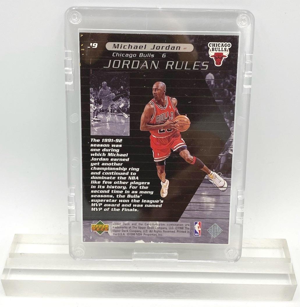 1998 Michael Jordan (JORDAN RULES-Upper Deck SILVER CARD-#J9)=1pc (2)