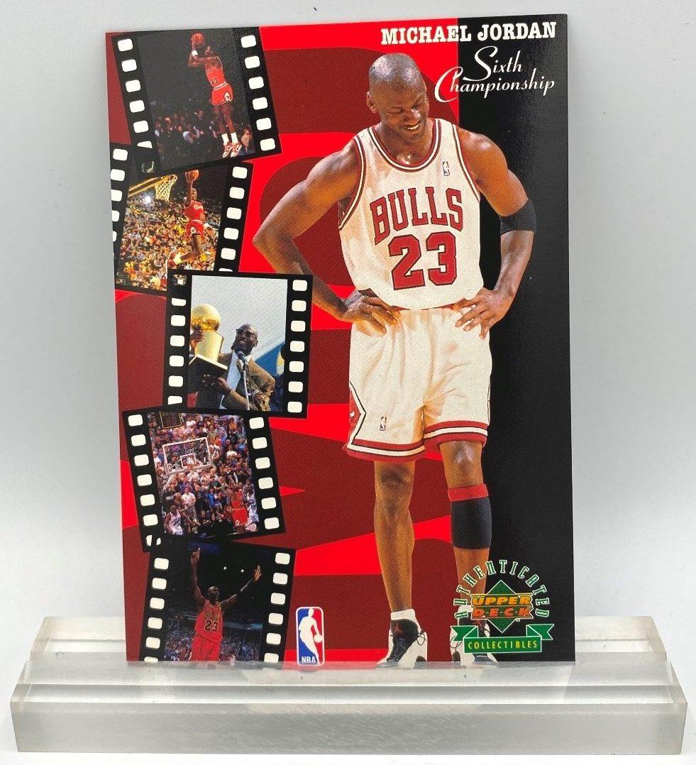 1998 Upper Deck Sixth Championship Michael Jordan 3.5x5 (3pcs) (1)