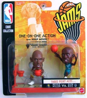Mattel Super Stars Doubles Reggie Miller Glen Rice 1999 action figures
